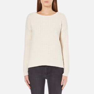 French Connection Women's Mozart Popcorn Round Neck Jumper - Classic Cream