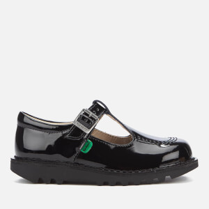 Kickers Kids' Kick T Patent Flat Shoes - Black