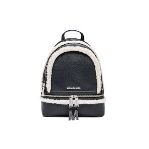 MICHAEL MICHAEL KORS Women's Rhea Zip Mid Shearling Trim Backpack - Black