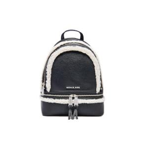 MICHAEL MICHAEL KORS Women's Rhea Zip Mid Shearling Trim Backpack - Black