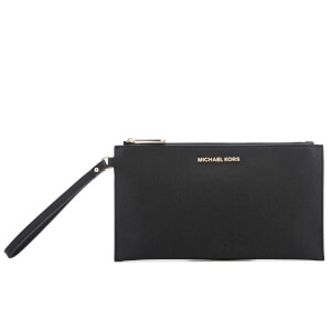 MICHAEL MICHAEL KORS Women's Jet Set Travel Large Zip Clutch Bag - Black