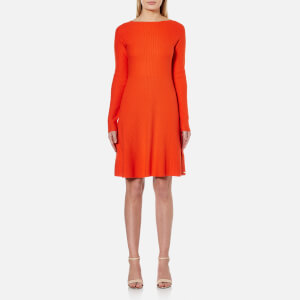 BOSS Orange Women's Lesibell Knitted Dress - Bright Red