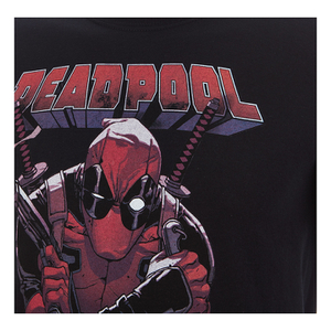 Marvel Men's Deadpool Logo T-Shirt - Black: Image 3