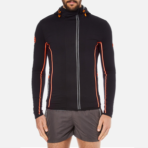 Superdry Men's Gym Sport Runner Panel Zip Hoody - Black