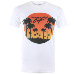 Beverly Hills Cop Herren Sunset T-Shirt - Weiß