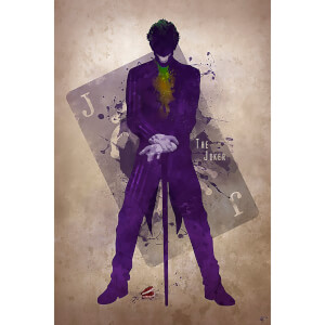 Joker Inspired Art Print - 16.5 x 11.7