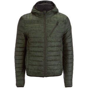 Threadbare Men's Parrot Camo Detail Puffer Jacket - Khaki