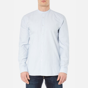 HUGO Men's Edoug Grandad Collar Shirt - Pastel Blue