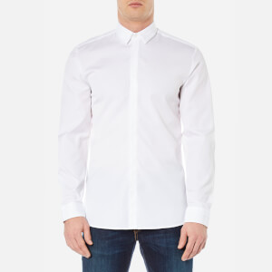 HUGO Men's Esid Collar Detail Shirt - Open White