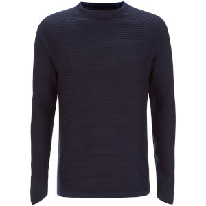 Jack & Jones Men's Core Wind Ribbed Jumper - Navy Blazer