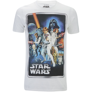 T-Shirt Star Wars New Hope Poster - Blanc