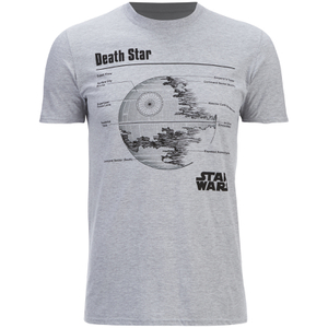 Star Wars Mens Death Star T-Shirt - Lichtgrijs