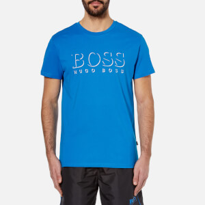 BOSS Hugo Boss Men's Large Logo T-Shirt - Blue