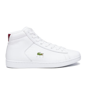 Lacoste Women's Carnaby Evo Mid G316 2 Hi-Top Trainers - White/Red
