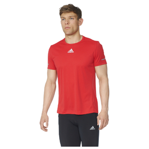 adidas Men's Sequencials Climalite Running T-Shirt - Red