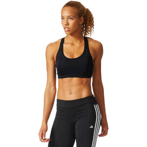 adidas Women's 3-Stripes Training Racer Back Bra - Black
