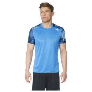 adidas Men's Response Graphic Running T-Shirt - Blue
