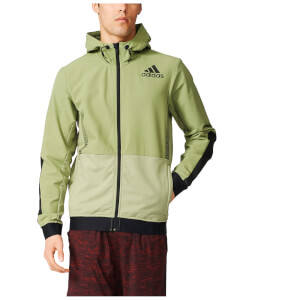 adidas Men's Workout Full Zip Training Hoody - Green