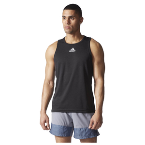 adidas Men's Sequencials Running Singlet - Black