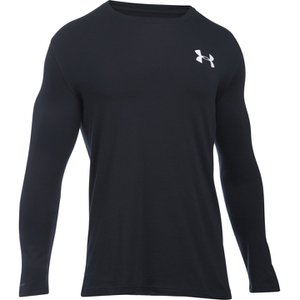 Under Armour Men's Vertical Wordmark Long Sleeve Shirt - Black/White