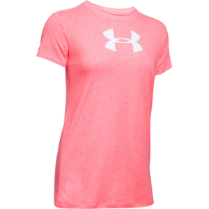 Under Armour Women's Favorite Big Logo Short Sleeve T-Shirt - Brilliance Pink