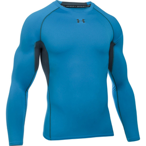 Under Armour Men's Armour HeatGear Long Sleeve Compression Top - Brilliant Blue/Stealth Grey