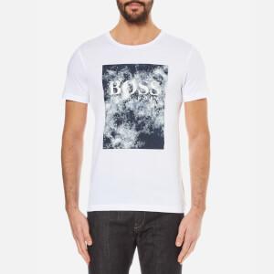 BOSS Orange Men's Theon Printed Crew Neck T-Shirt - White