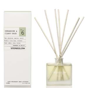 Stoneglow Modern Apothecary No. 6 Reed Diffuser - Geranium and Clary Sage