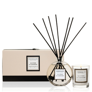 Stoneglow Leather and Cashmere Candle and Reed Gift Set