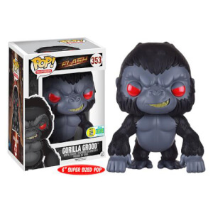 The Flash Gorilla Grodd Super Sized Pop! Vinyl Figur SDCC 2016 Exclusive