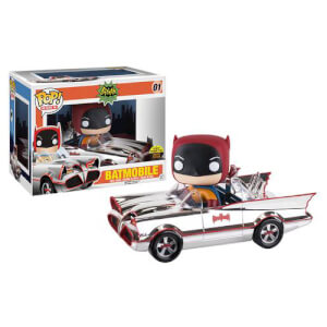 DC Comics 66 Chrome Batmobile with Batman Pop! Ride & Vinyl Figure SDCC 2016 Exclusive
