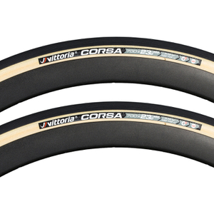 Vittoria Corsa G+ Isotech Clincher Tyre Twin Pack