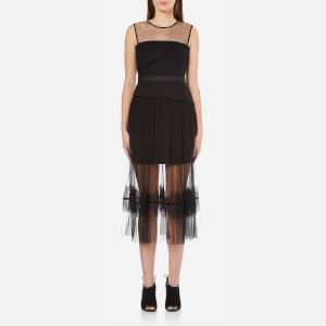 Three Floor Women's Ondine Chiffon and Lace Dress - Black