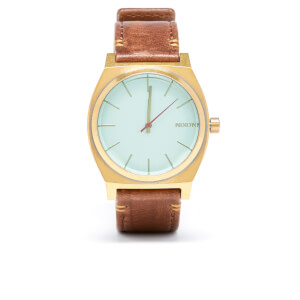 Nixon The Time Teller Watch - Brass Green/Crystal Brown