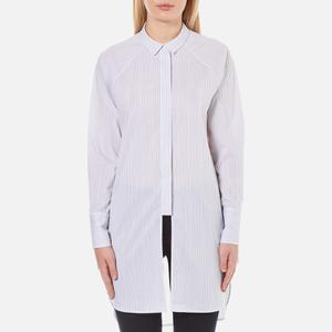 Selected Femme Women's Balia Long Shirt - Stripes