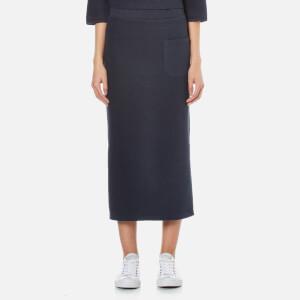 Selected Femme Women's Jula Slit Sweat Skirt - Dark Sapphire