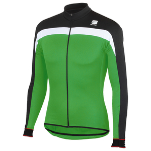Sportful Pista Thermal Long Sleeve Jersey - Black/Green