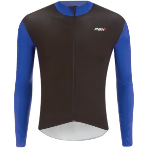 PBK Stelvio Water Repellent Long Sleeve Jersey - Navy Blue