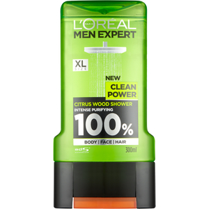 Gel Douche Bois d'Agrume Clean Power L'Oréal Paris Men Expert 300 ml