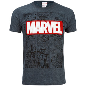Marvel Men's Mono Comic T-Shirt - Dark Heather