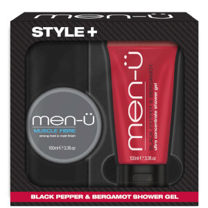 men-u Style+ Black Pepper & Bergamot Shower Gel 100ml - Muscle Fibre