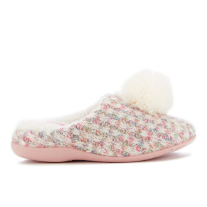 Dunlop Women's Adeline Pom Pom Slippers - Natural