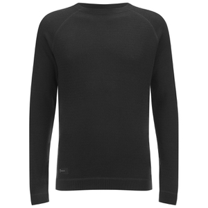 Dissident Men's Krios Crew Neck Raglan Jumper - Black