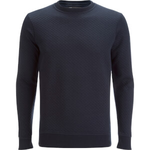 Dissident Men's Claredale Quilted Sweatshirt - True Navy