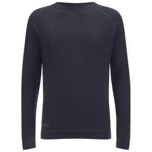 Dissident Men's Krios Crew Neck Raglan Jumper - Dark Navy
