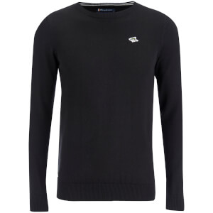Le Shark Men's Union Cotton Crew Neck Jumper - Black