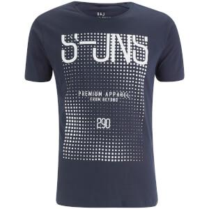 Smith & Jones Men's Cenotaph Print T-Shirt - Navy