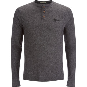 Tokyo Laundry Men's Timber Henley Long Sleeve Top - Charcoal Marl