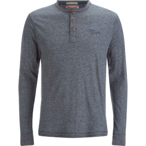 Tokyo Laundry Men's Timber Henley Long Sleeve Top - Dark Navy