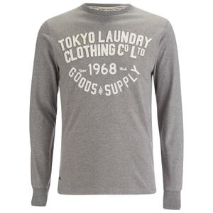 Camiseta manga larga Tokyo Laundry Point Hendrick - Hombre - Gris